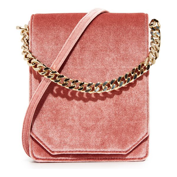 CAFUNE bellows cross body bag - A velvet Cafune cross-body bag in a structured silhouette....