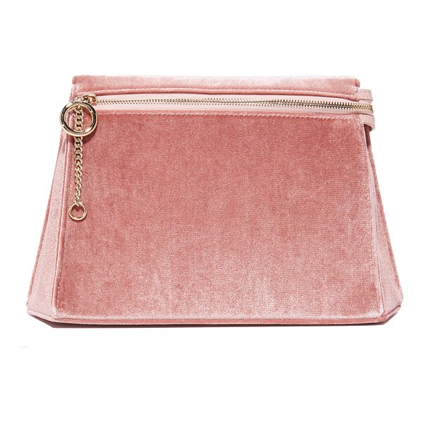 CAFUNE camber clutch - A geometric shape adds sculptural style to this pastel...