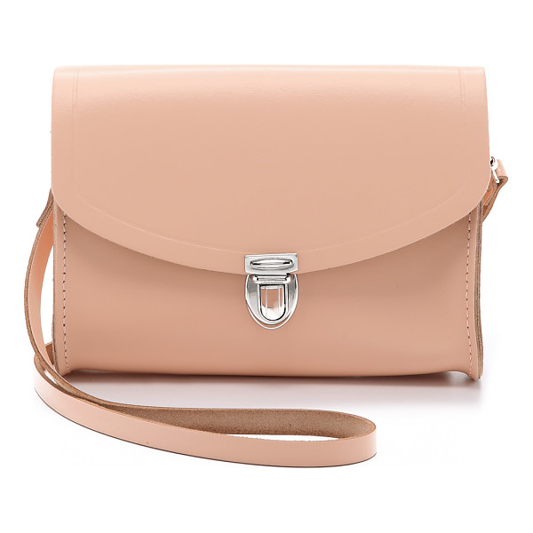 CAMBRIDGE SATCHEL Push lock bag - A small leather Cambridge Satchel cross body bag with a...
