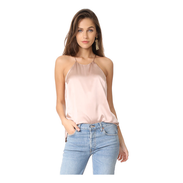CAMI NYC elle top - A lustrous top from CAMI NYC, styled with tonal lace trim...