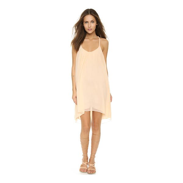 CANDELA Ariel dress - Braided straps compose a racer back on this airy Candela...