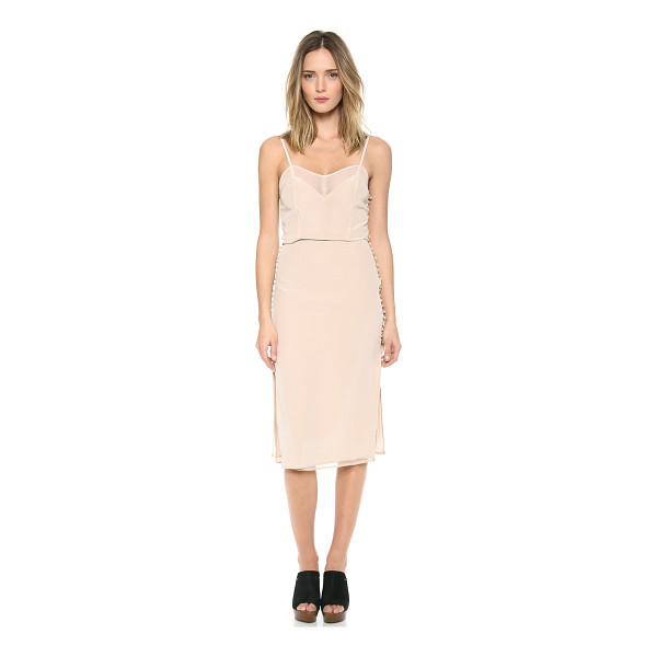 CARMELLA Jessamy dress - Embroidered buttons close the split sides of this silk...