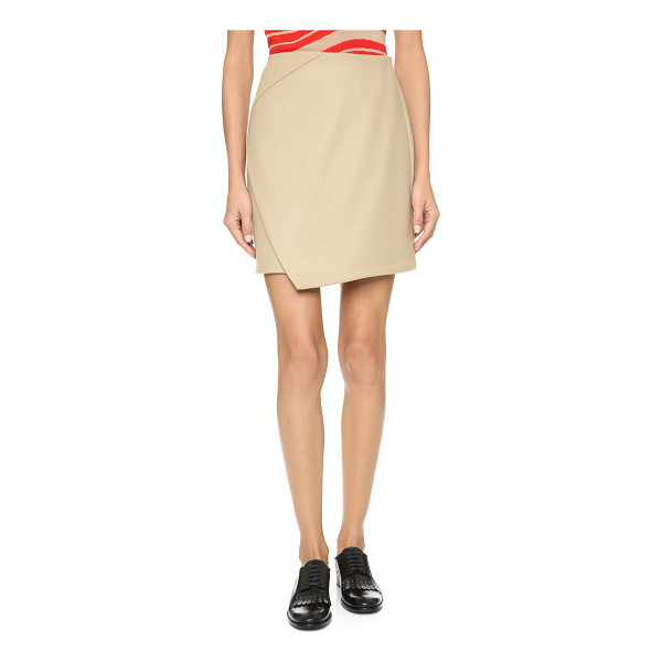 CARVEN Cross panel miniskirt - A classic Carven skirt with an uneven panel in front....