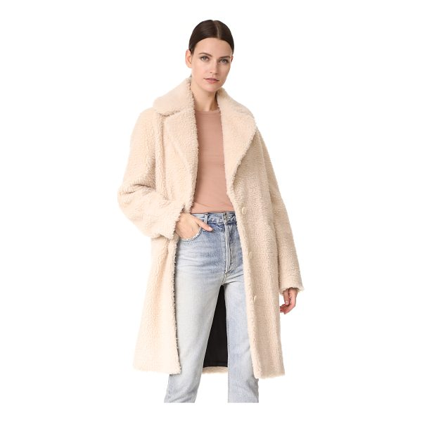 CARVEN faux shearling coat - High-pile sherpa gives this Carven coat statement-making...