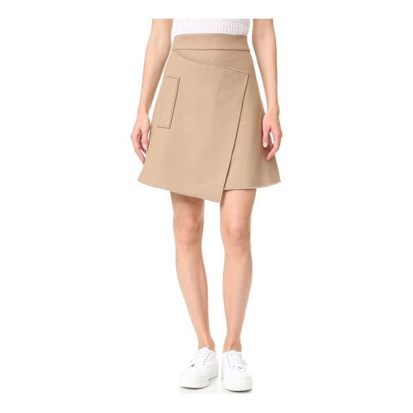 CARVEN felt skirt - This asymmetrical Carven skirt is crafted with an angled...