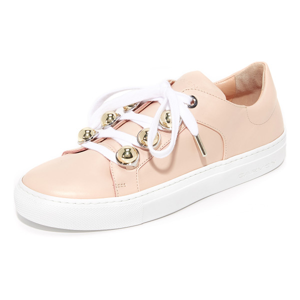 CARVEN lace up sneakers - Polished, spherical studs update the lace-up closure on