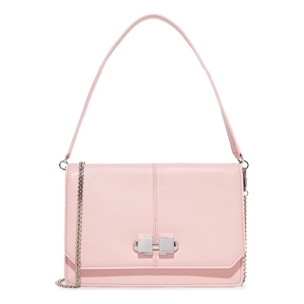 CARVEN full joy cross body bag - A sturdy leather Carven cross-body bag. A metal knob trims...