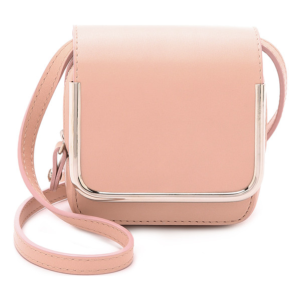 CARVEN Leather cross body bag - A structured Carven bag in a compact, square silhouette.
