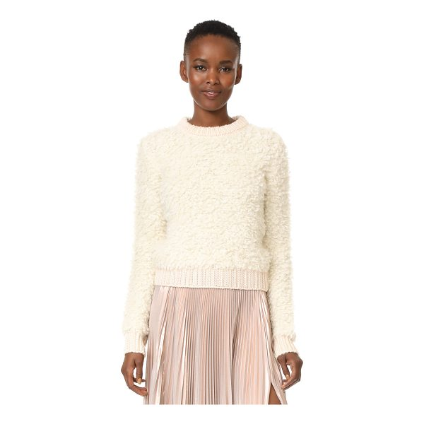 CARVEN long sleeve pullover - Soft, brushed loops lend rich texture to this cozy bouclé...