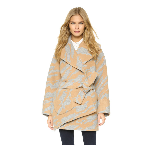CARVEN Oversized coat - An off center placket and single patch pocket lend charming...