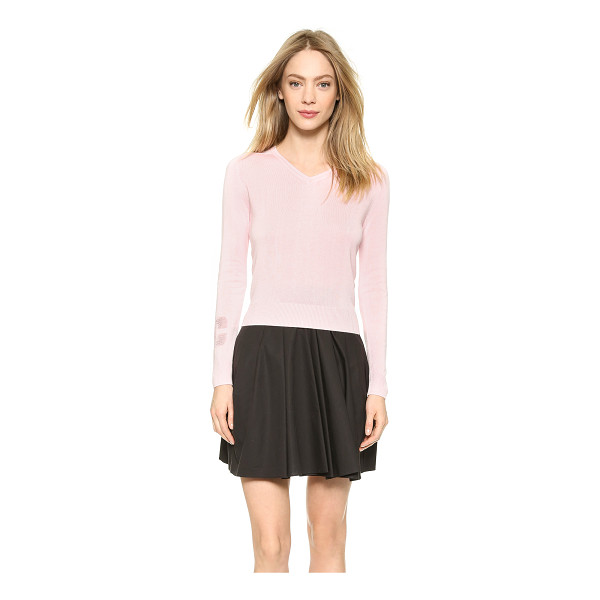 CARVEN V neck sweater - This feminine Carven sweater is detailed with a pointelle...
