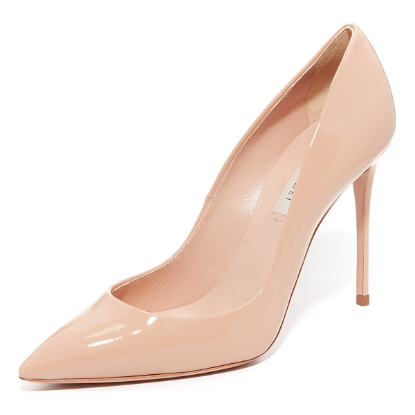CASADEI Pointed Toe Pumps - Glossy patent Casadei pumps in a refined, pointed toe...