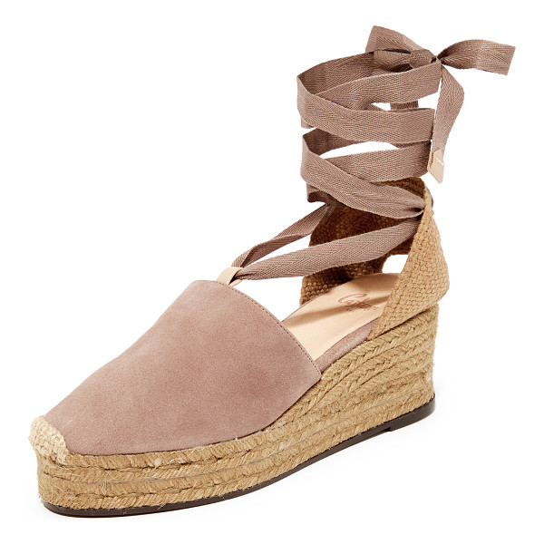 CASTANER serious summer wedge espadrilles - Effortless Castaner wedge espadrilles with a suede vamp....