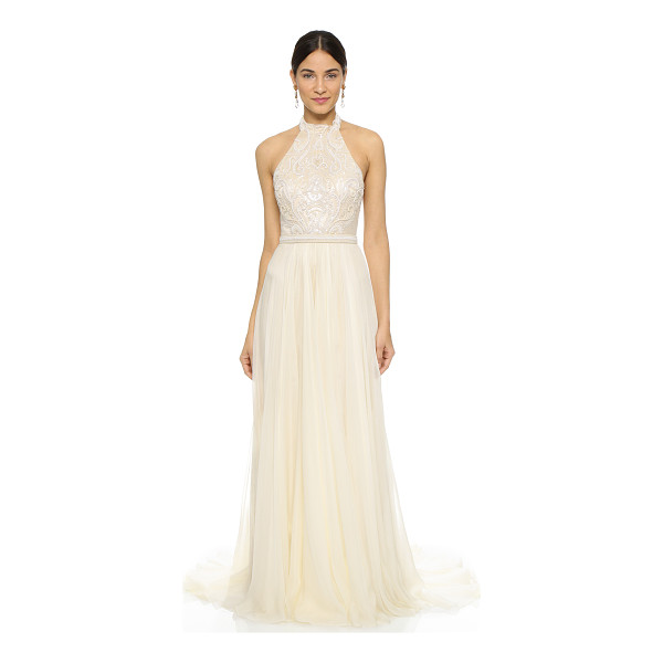 CATHERINE DEANE amelie dress - Intricate, tonal beading accents the mesh bodice of this...