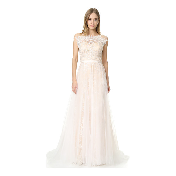 CATHERINE DEANE harlow gown - This ethereal Catherine Deane gown is rendered in airy mesh...
