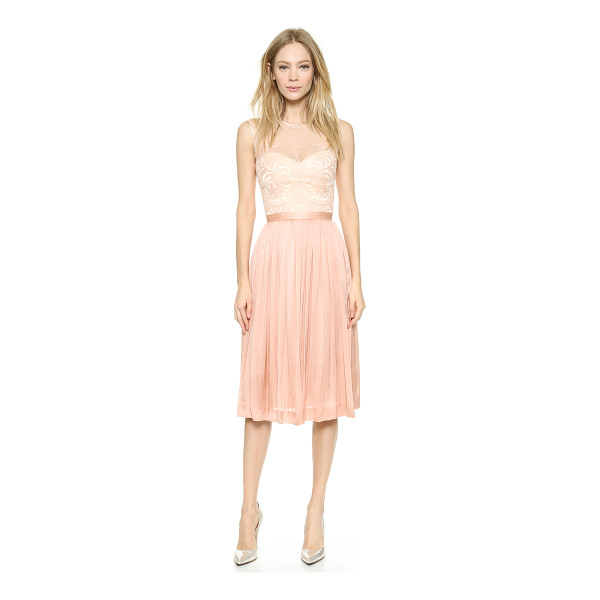 CATHERINE DEANE Zaina dress - Delicate lace pairs with lustrous silk on this ladylike...