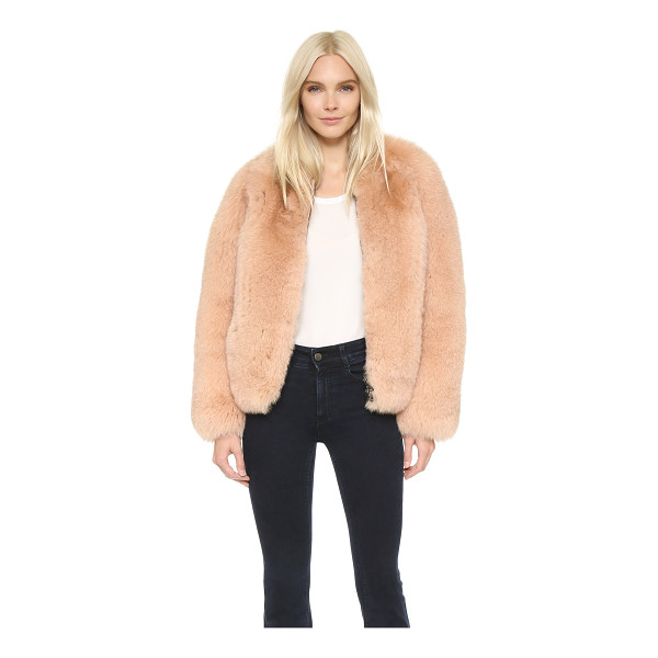 CEDRIC CHARLIER Fur coat - A luxurious Cedric Charlier jacket composed of plush fox...