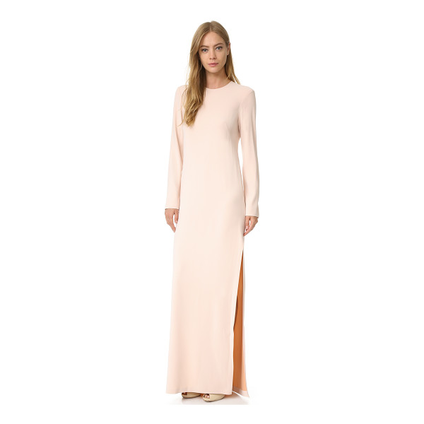 CEDRIC CHARLIER long sleeve gown - A minimalist Cedric Charlier gown with high slits at the...