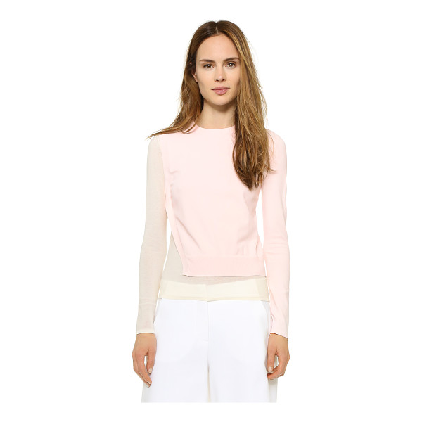 CEDRIC CHARLIER Long sleeve sweater - A luxe Cedric Charlier sweater with an asymmetrical,...