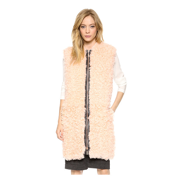 CEDRIC CHARLIER Shearling vest - Pale, curly shearling brings luxe charm to this striking...
