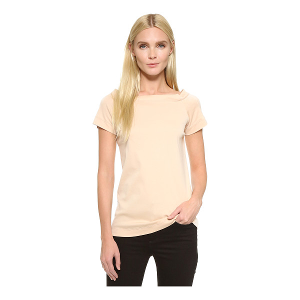 CEDRIC CHARLIER T-shirt - A simple Cedric Charlier tee in a ladylike boat neck...