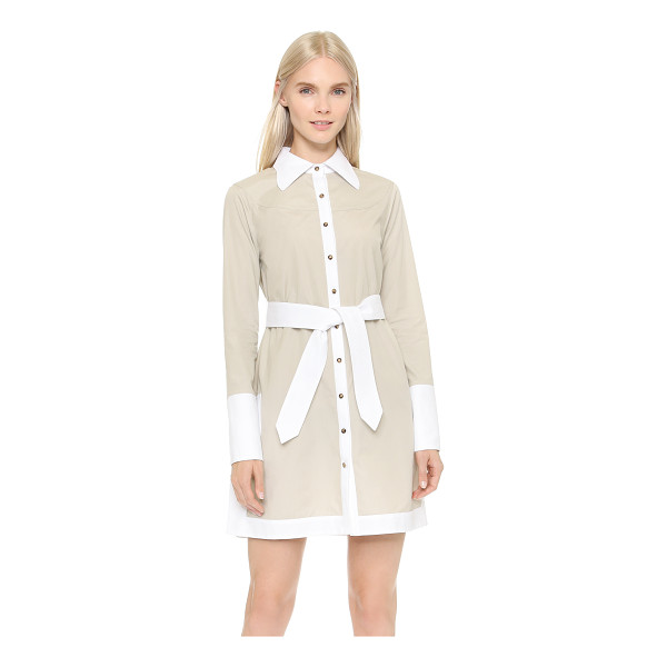 CG Button front shirtdress - A crisp CG shirtdress with textured jacquard trim. Button...