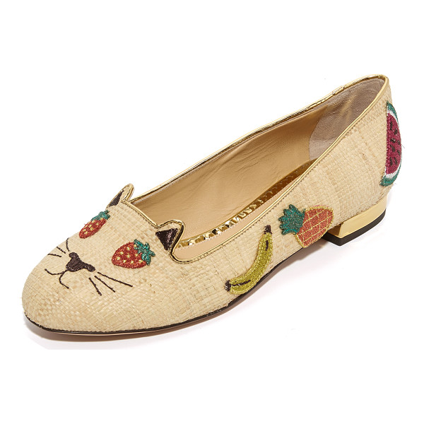 CHARLOTTE OLYMPIA fruit kitty flats - Signature Charlotte Olympia kitty flats, detailed with an...