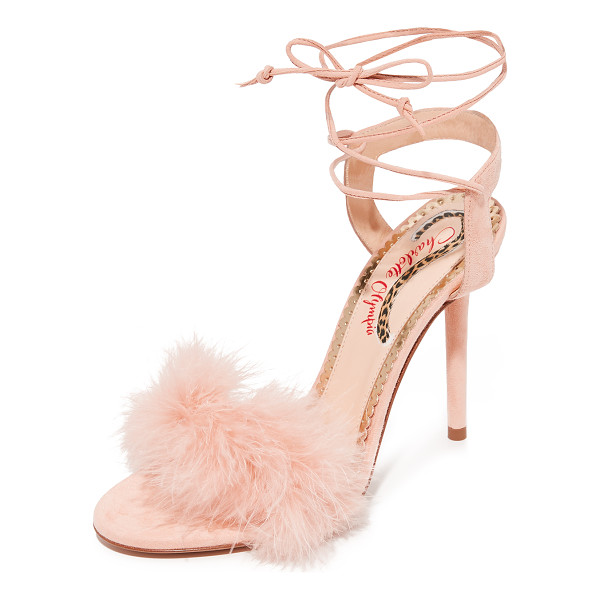 CHARLOTTE OLYMPIA salsa heels - Delicate ostrich feathers add a retro glamour to these...