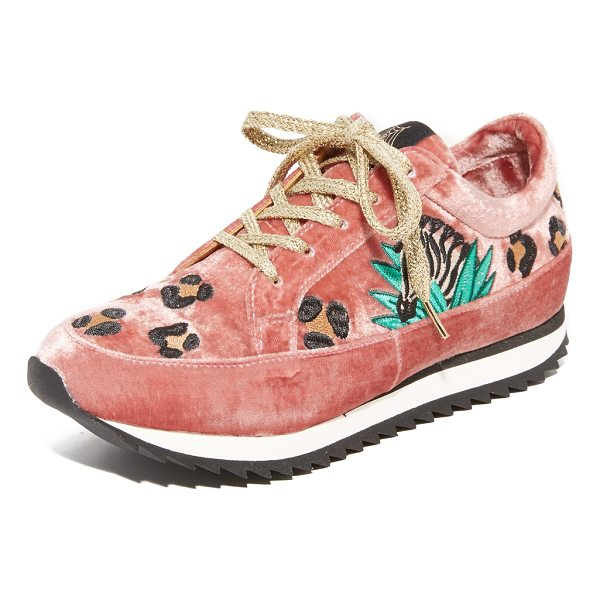 CHARLOTTE OLYMPIA work it trainers - Jungle-themed embroidery adds a playful touch to these...