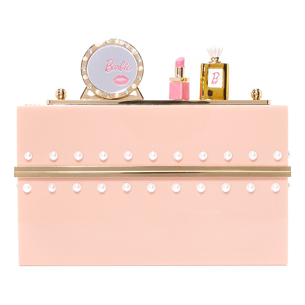 CHARLOTTE OLYMPIA x barbie world clutch box - Rows of imitation pearls add elegance to this Charlotte