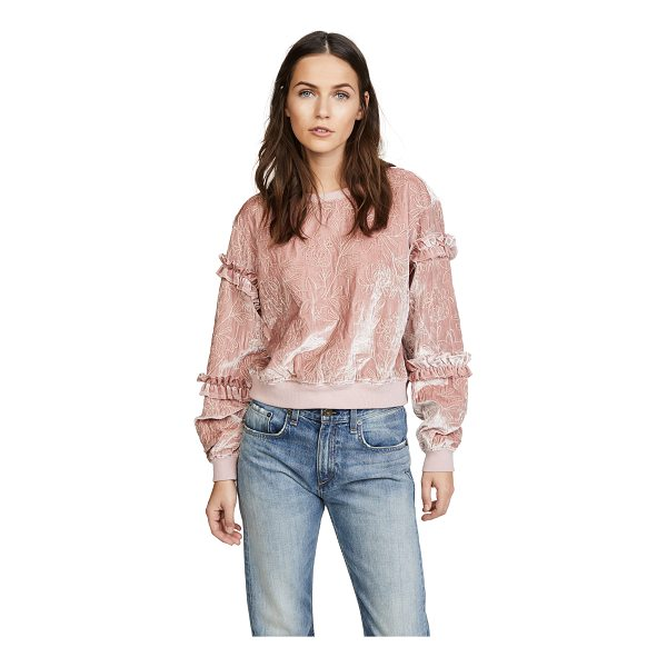 CINQ A SEPT nara pullover - Fine metallic embroidery lends a lavish touch to this...