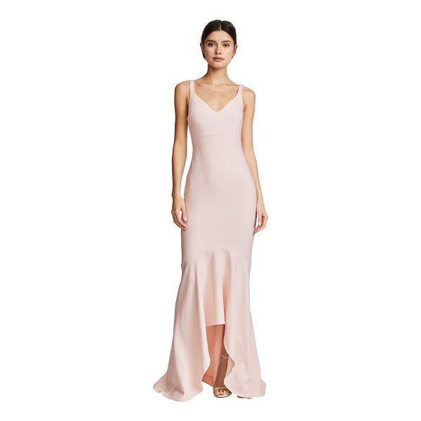 CINQ A SEPT sade gown - This elegant Cinq a Sept dress is styled with a curved...