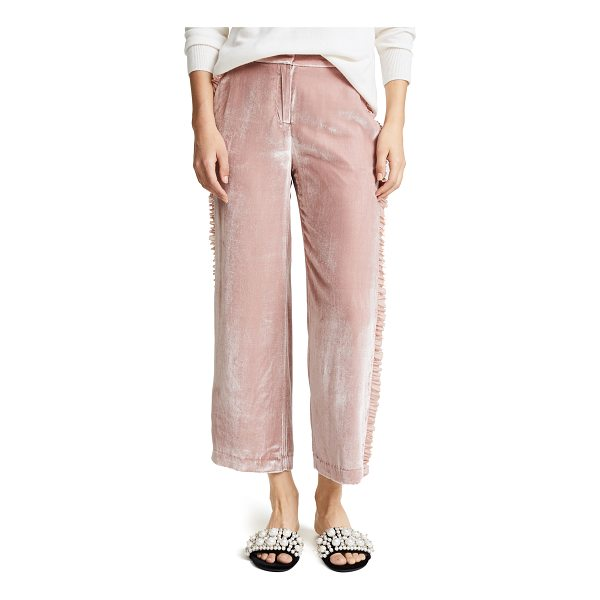 CINQ A SEPT zoma pants - Luxurious velvet Cinq a Sept cropped trousers in a...