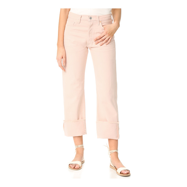 CITIZENS OF HUMANITY parker relaxed cuffed crop jeans - Dirtied and raw, frayed edges create a broken-in look on...