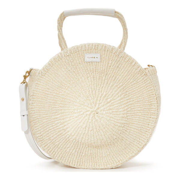 CLARE V. Alice tote - A canteen shaped Clare V. tote handcrafted in woven sisal.