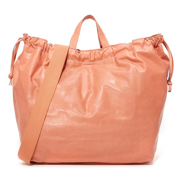 CLARE V. drawstring tote - A knotted drawstring cinches the top of this slouchy Clare...
