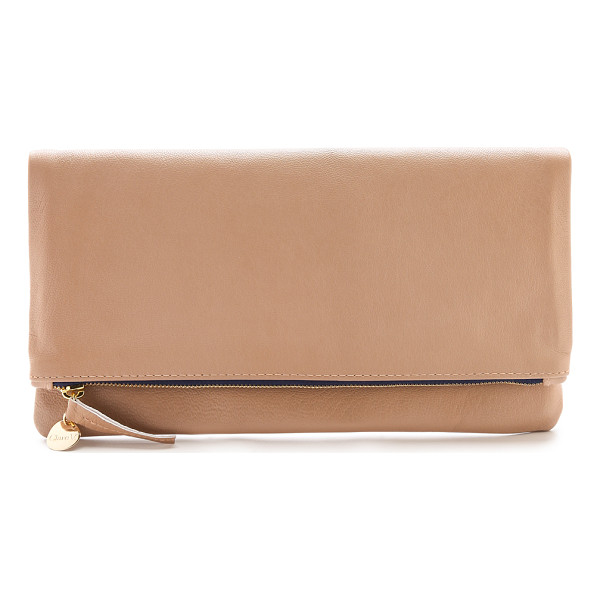 CLARE V. Fold over clutch - The classic Clare V. fold over clutch, rendered in wrinkled
