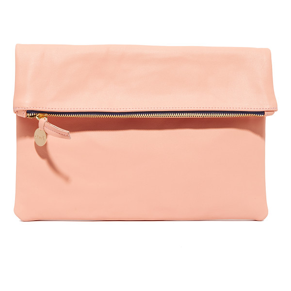 CLARE V. maison fold over clutch - This Clare V. fold-over clutch is rendered in rich leather.