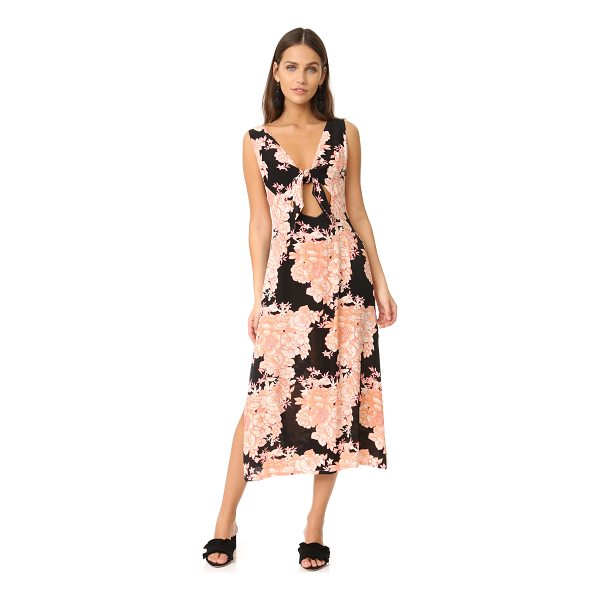 CLEOBELLA capulet midi dress - A feminine, floral-print Cleobella dress, styled with a tie...