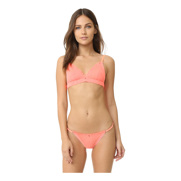 CLO INTIMO plumetis soft bra - A neon Clo Intimo bralette with subtle embroidered dots....