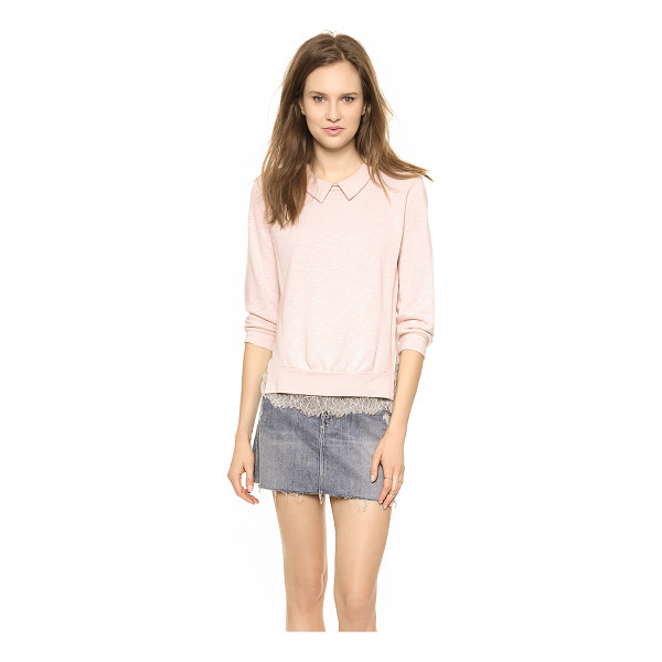 CLU Lace trimmed sweatshirt - A french terry Clu sweatshirt balances a slouchy silhouette...