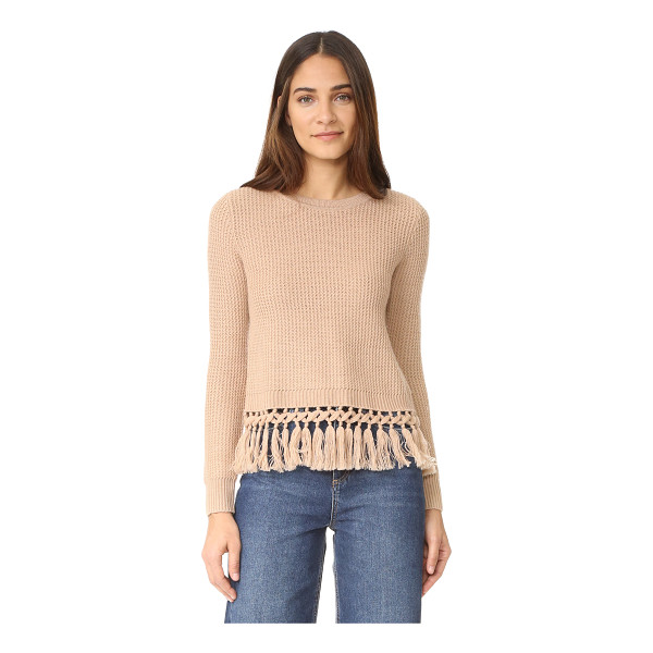 CLUB MONACO beberly sweater - Raised zigzag ribs lend a textural touch to this easy Club...