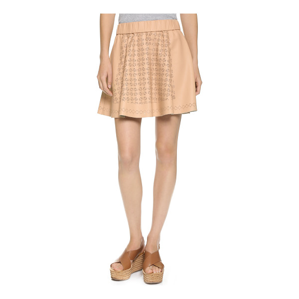 CLUB MONACO Bria skirt - A flared Club Monaco miniskirt in smooth faux leather....