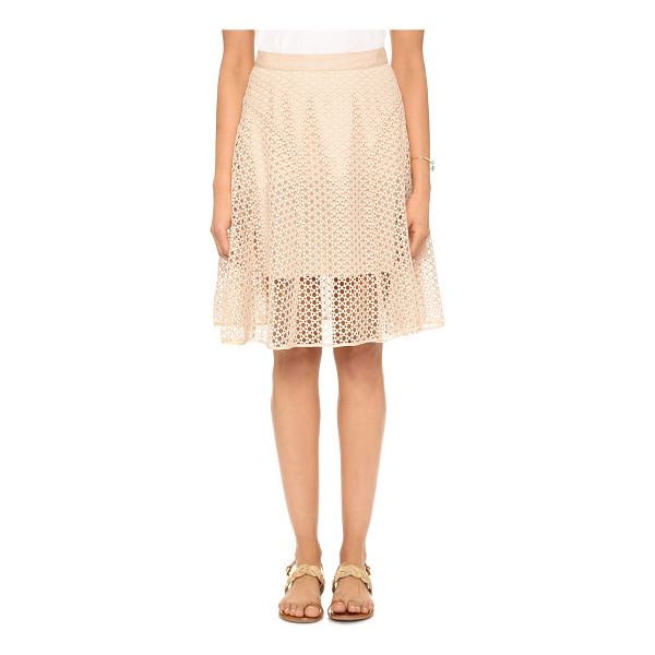 CLUB MONACO Calcia skirt - Godet insets lend movement and volume to an airy eyelet...