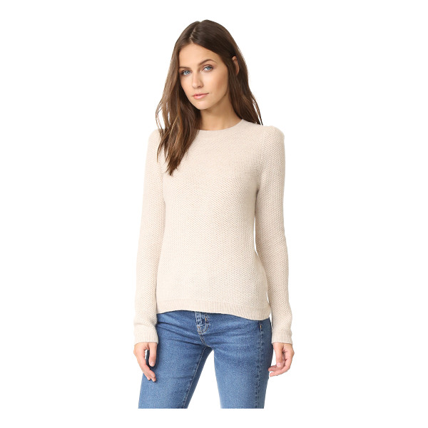 CLUB MONACO torela cashmere sweater - Honeycomb stitches lend rich texture to this luxurious...