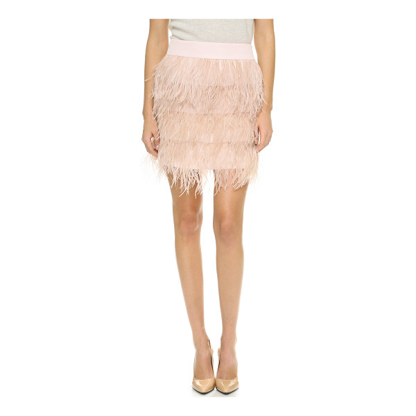 CLUB MONACO Dace skirt - Luxe ostrich feathers cover this tiered Club Monaco...