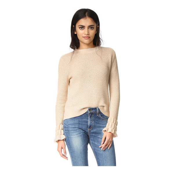 CLUB MONACO Club Monaco Darja Sleeve Interest Sweater - This tactile Club Monaco sweater is detailed with ribbed...