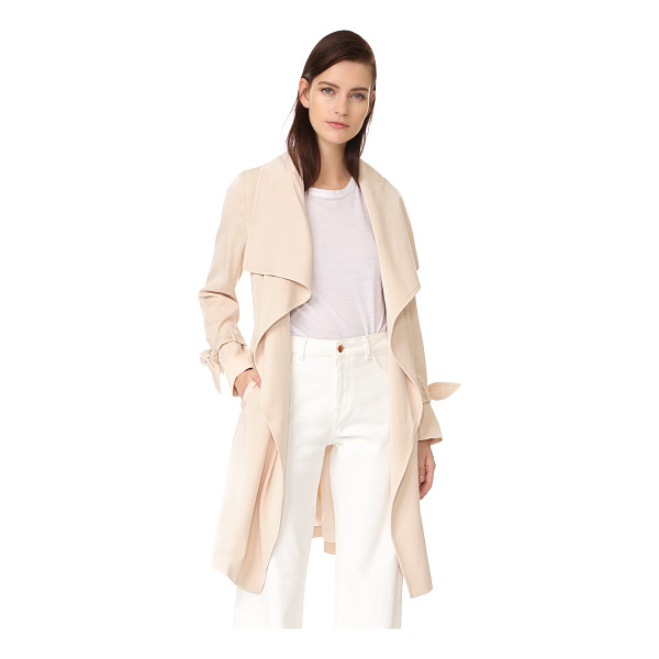 CLUB MONACO ellayne trench - Oversized lapels drape along the open placket on this Club...