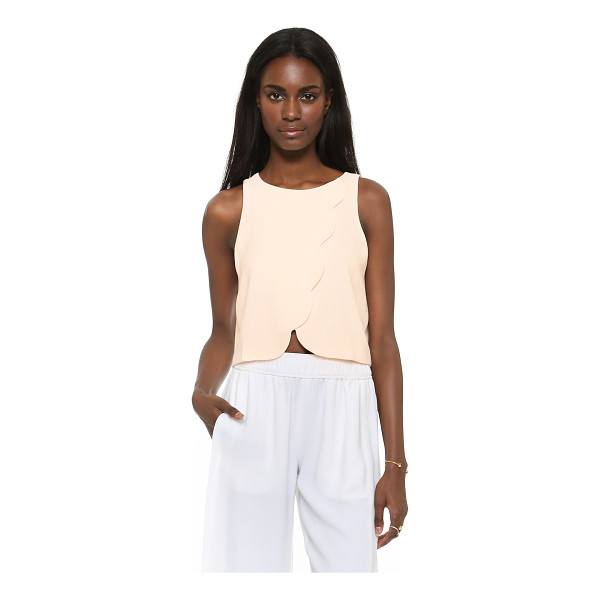 CLUB MONACO Genero scalloped crop tank - Scalloped crossover panels form the front of an easy Club...