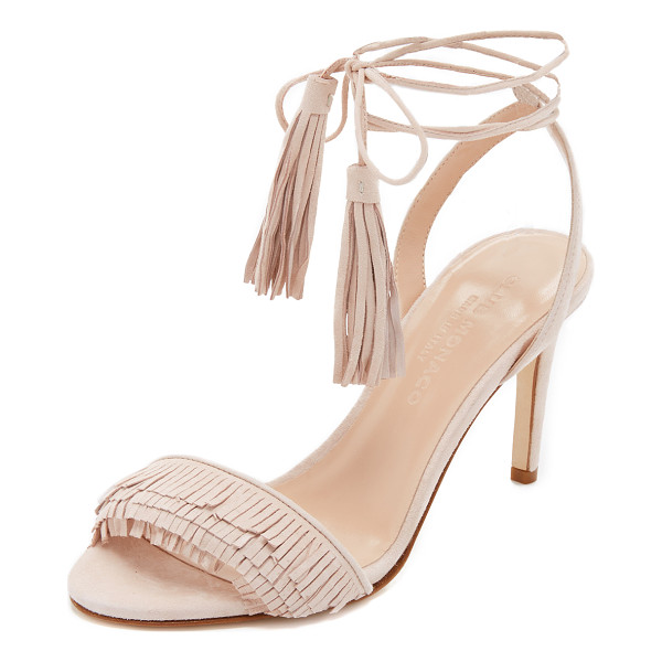 CLUB MONACO Journie fringe sandals - Fringe accents the vamp of these luxe suede Club Monaco